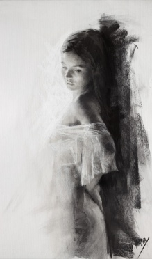 65x38 cm. charcoal on paper