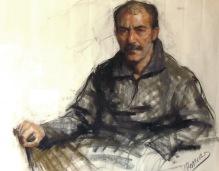 92x73 cm. Pastel on paper (1999)